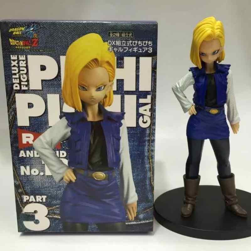 Anime Japonês Figuras de Ação De Dragon Ball Z Android 18 Lazuli Pvc Modelo Coleção Brinquedos para Meninos Para Meninas Miúdos Crianças Amante presente