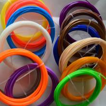 3D Druck Materialien 100 Mt (10 farben 10 mt/Farbe) 3D Filament ABS/PLA 1,75mm 3D Filament Für 3D Druck Stift 3D Drucker