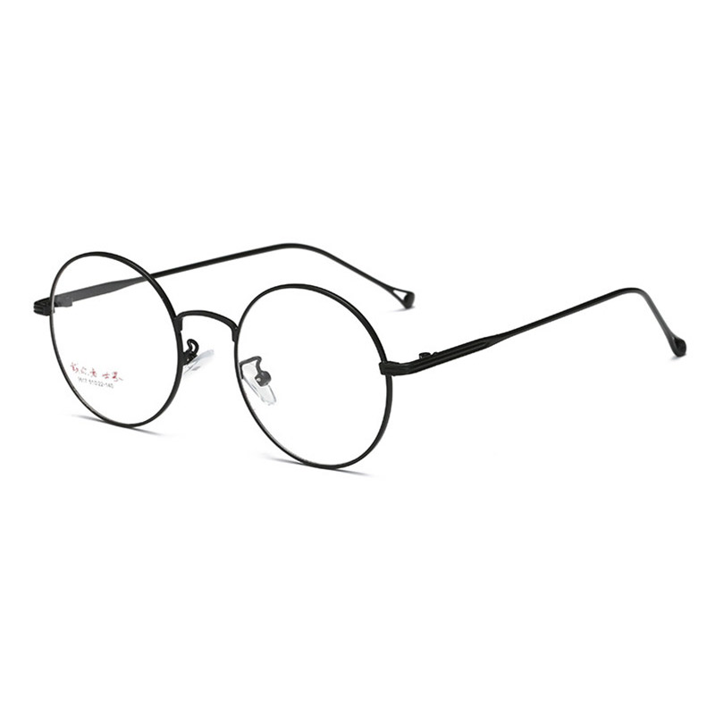 Prescription Eyewear for Men and Women Spectacles Full Rim Round Optical Glasses Frame Alloy Eyeglasses Super Light-weight 9617