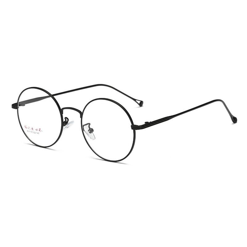 Prescription Eyewear for Men and Women Spectacles Full Rim Round Optical Glasses Frame Alloy Eyeglasses Super Light-weight 9617