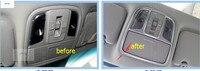 Lapetus Interior / For KIA Optima K5 2016 ABS Roof Reading Lamp Cover Trim 3 Pcs / Set
