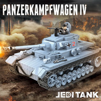 New 716PCS WW2 War Tank German King Tiger Tank Building Blocks Sets Compatible Legoings Military Army Soldiers Toys for Children