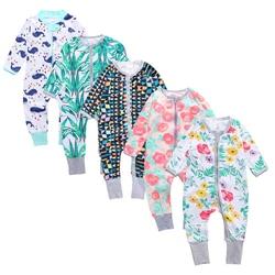 Одежда для новорожденных, Одежда для младенцев-мальчиков, младенцев, малышей с длинным рукавом Цветочный принт для маленьких девочек детск...