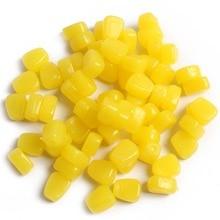 Anmuka 100pcs yellow color soft fishing lure Grass Carp Baits Corn kernels Baits jig soft carp fishing tackle 21010-100