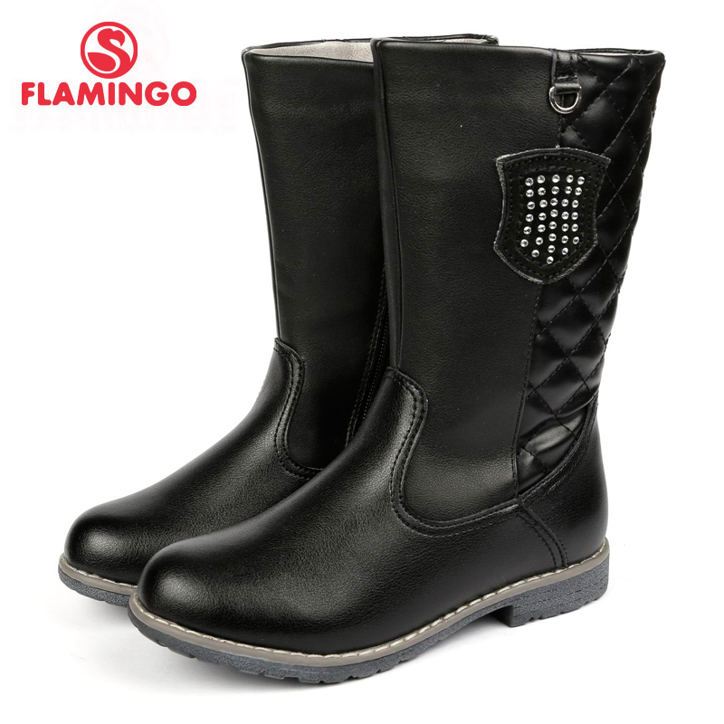 FLAMINGO 2017 new collection autumn/winter fashion kids high boots high quality anti-slip kids shoes for girl 72C-XY-0401