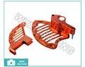 Billet CNC Front+Rear Disc Brake Guard Kit For KTM SX EXC SXF XC SXF 125-530CC All Models 2003-2013 Orange