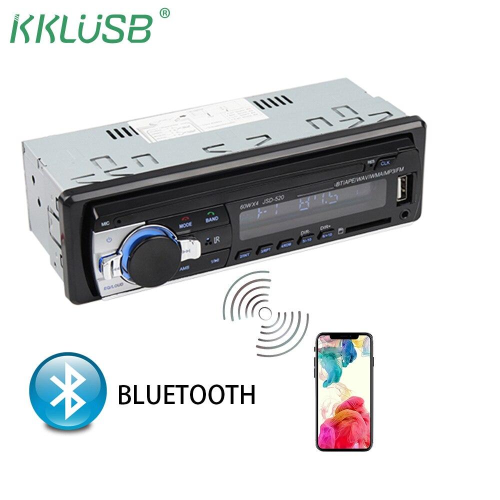 1 Дин Радио Bluetooth автомагнитолы JSD-520 12/24 В стерео аудио плеер SD USB AUX в mp3 рекордер ото teypleri авто радио