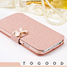 Luxury Fashion Butterfly Silk Pattern Flip PU Leather Phone Case Cover For Lenovo A5000 A 5000 With Stand Free Shipping