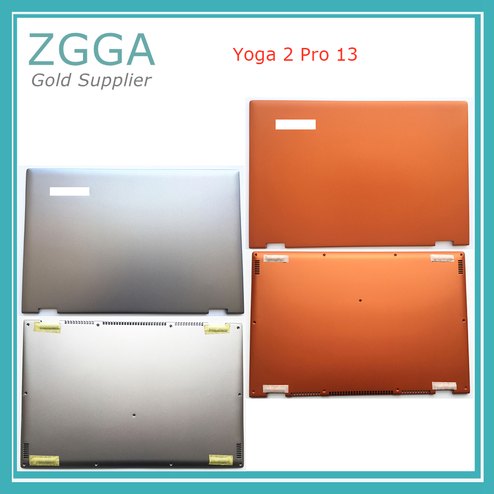 Genuine NEW 13.3Laptop Lcd Rear Lid For Lenovo Yoga 2 Pro 13 Back Chassis Cover Top Shell Bottom Base Lower Case Silver Orange