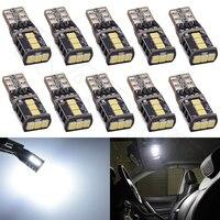 10 stücke Auto LED Innenbeleuchtung Quelle 9 SMD 2835 LED CANBUS T10 W5W 147 Wedge Tür Instrument Seite Maker Lampe DC 12 V Weiß Bernstein