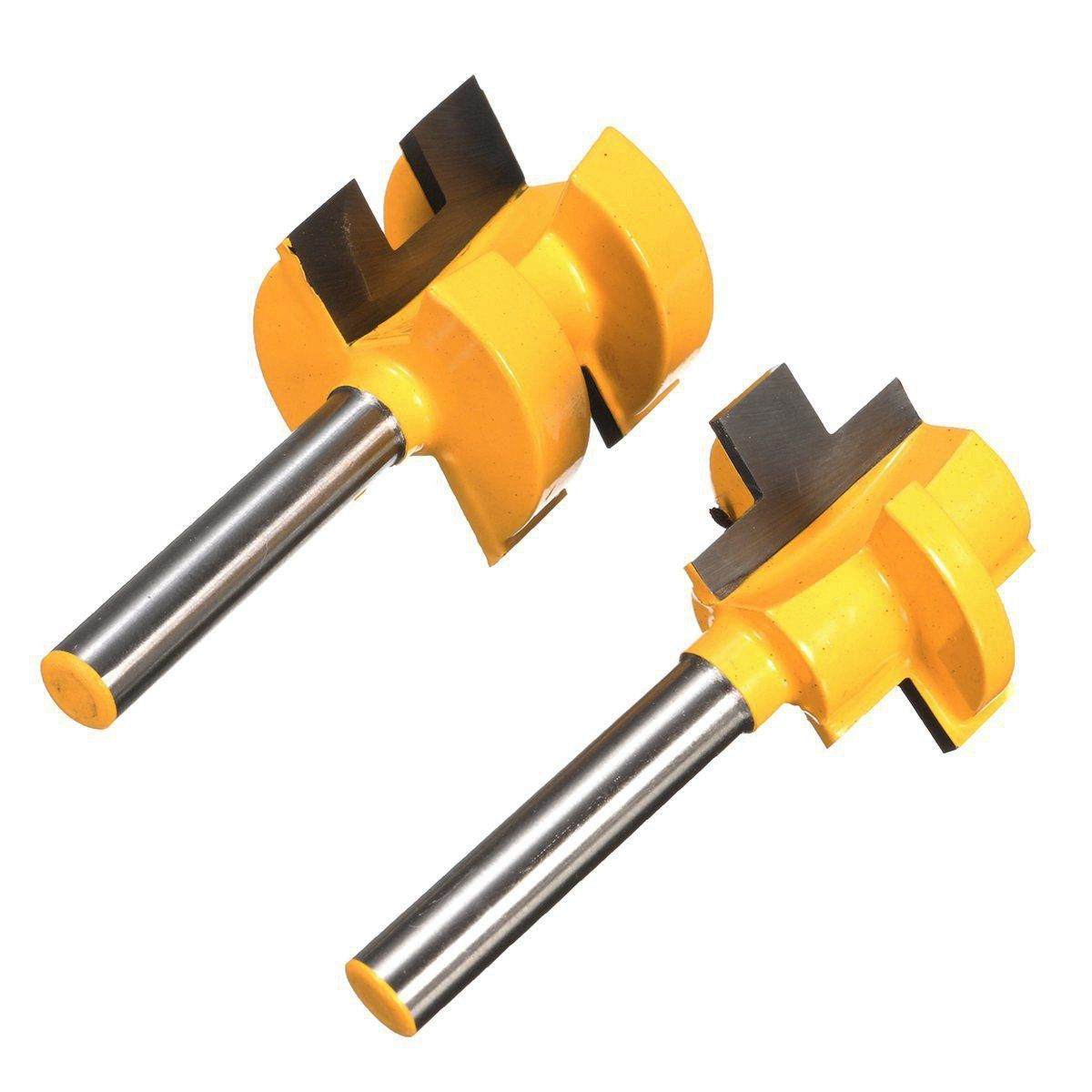 2Pcs Tongue & Groove Huge Crown Molding Router Bit 1/4 inch Shank Wood Milling Cutter 2pcs tongue