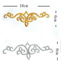 Hierro en apliques de 3D parches parte Secoration estilos oro bordado Vintage metálico Cosplay disfraces Diy adornos(China)