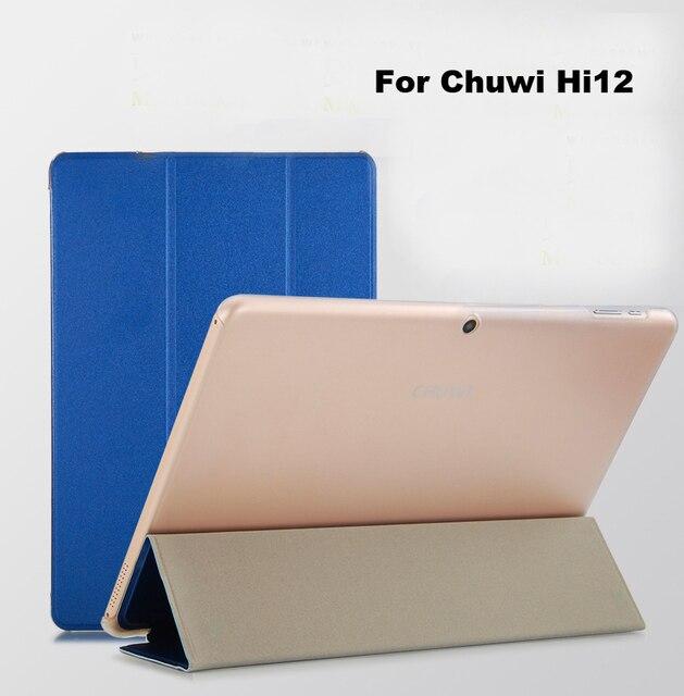 Кожа Pu смарт Case Чехол для CHUWI Hi12 Tablet Защитный Case Для chuwi привет 12 tablet case Cover + экран фильм + ручка + OTG