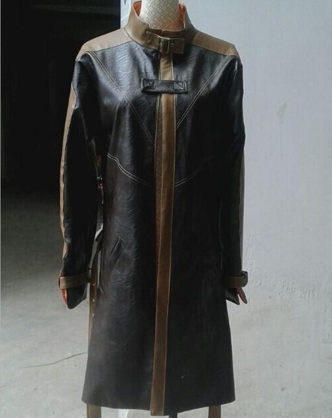 [Настройка] Игра Часы Собаки pu кожаная куртка Aiden Pearce ветровка Хэллоуин косплей костюмы для женщин/мужчин любые размеры