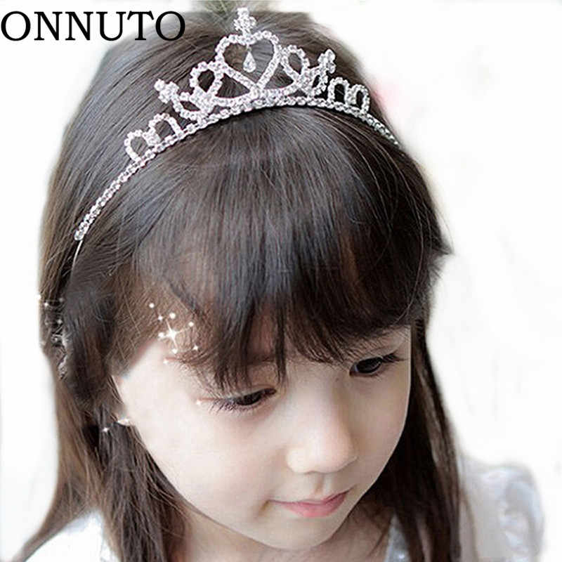 PC Lovely Girls Princess Bridal Crown Crystal Hoop Headband Hair Band Accessories