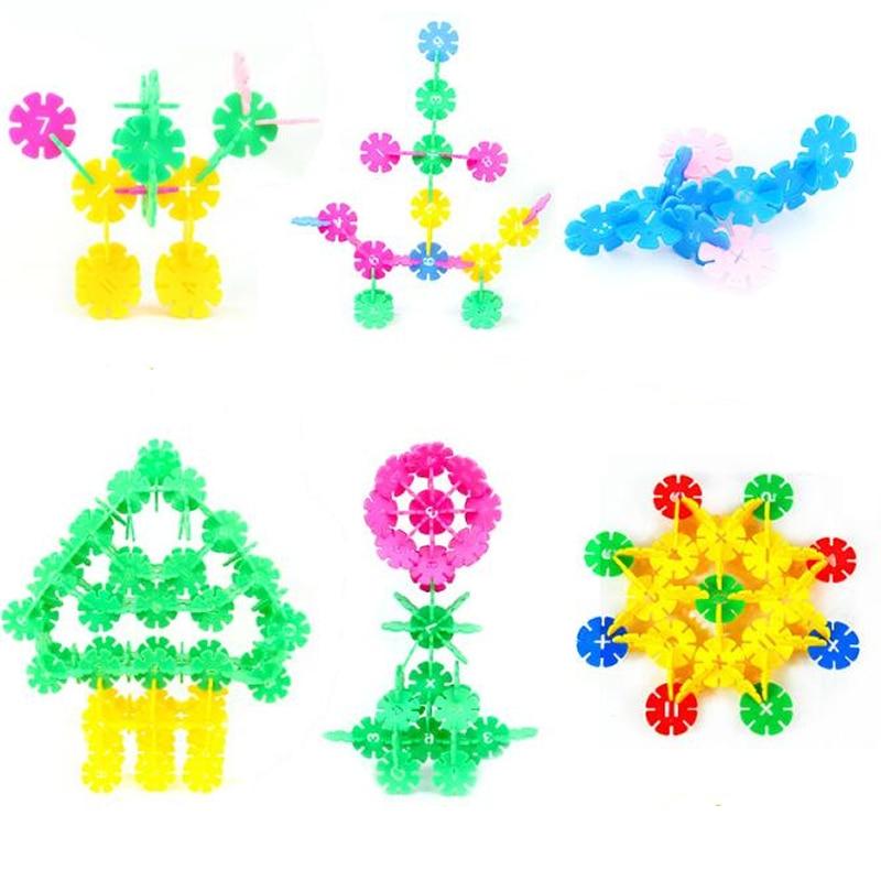 Romantisch Kinder Baby Schneeflocke Blöcke Verdickung Tasche Box Set Rechtschreibung Puzzle Kindergarten Baby Spiele Spielzeug 3-6 Jahre Alt