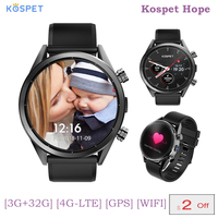 KOSPET Hope 4G Bluetooth Android 7.1.1 Смарт часы 1,39 сенсорный экран 3 ГБ + 32 Гб Водонепроницаемый MT6739 камера gps SmartWatch для телефона