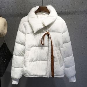 Image 2 - Plus Size XXXL Short Cotton Coat Women Harajuku Style Winter Jacket Women Chaqueta Mujer Bread Coat Cotton Jacket Parka C4900