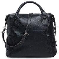 Large Capacity Women Messenger Bags Genuine Leather Female Handbags Travel Shoulder Bags For Woman 2015