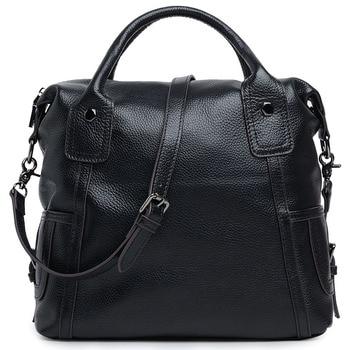대용량 여성 메신저 가방 여성을위한 정품 가죽 여성 핸드백 여행 어깨 가방 2015