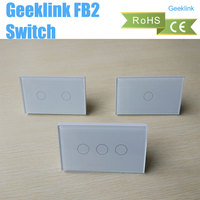 Geeklink FB2 Wall Touch US Version 1 2 3 Gang Smart Home Intelligent Wireless Remote Switch By IOS Android Feedback Switch