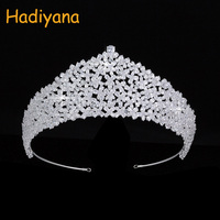 Hadiyana New Sparkling Bridal Jewelry Crown Wedding Tiaras Luxury Full Zircon For Ladies Party Crowns Promotion BC4472