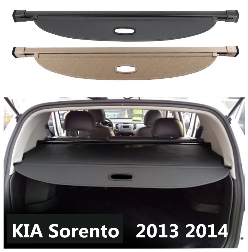 Pour KIA Sorento 2013 2014 coffre arrière housse de protection de sécurité écran ombre de haute qualité accessoires de voiture