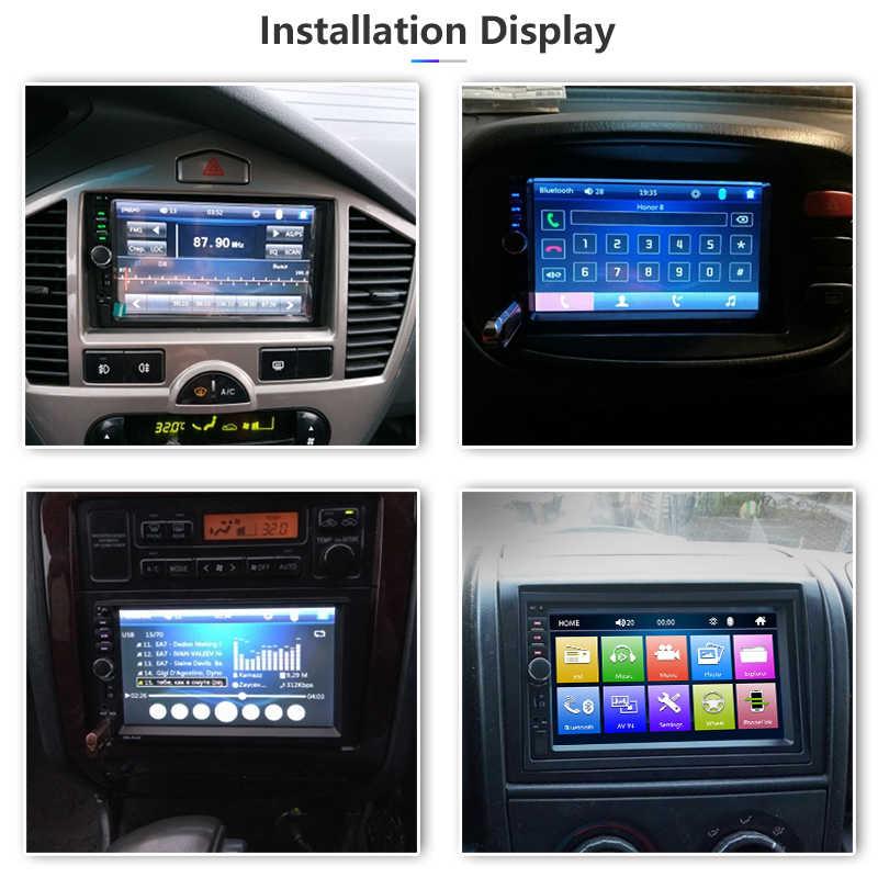 "Universele 2 Din Auto Multimedia Speler HD Stereo 7 ""Touch Screen Video MP5 Speler Auto Radio Backup Camera Bluetooth USB TF FM"