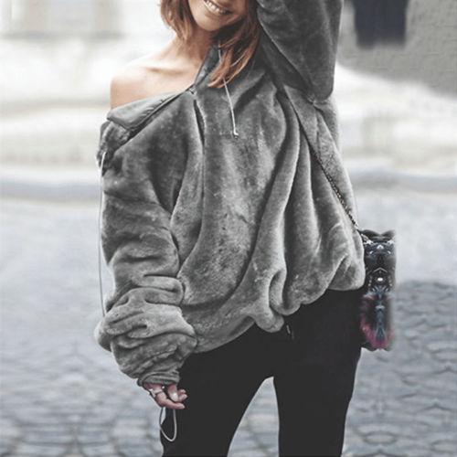 2018 Winter Autumn Warm Fleece Hooded Sweatershirt Casual Female Coat Solid Soft Fleece Women Coat