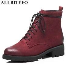 ALLBITEFO marque naturel en cuir véritable femmes bottes 2018 nouvelle  arrivée d hiver de mode plate-forme bottes filles moto bo. 18983ed18f88