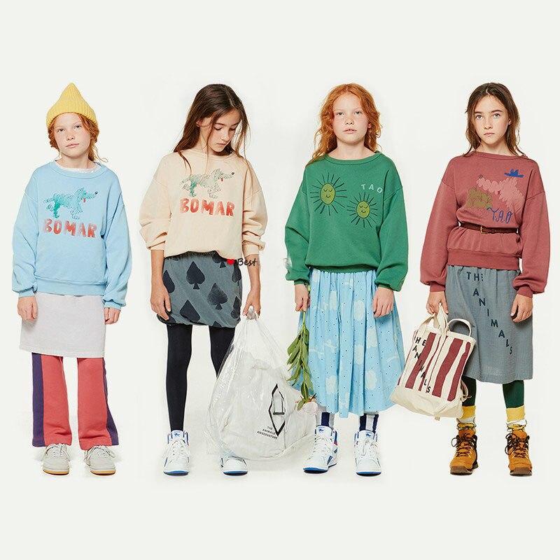 New 2018 Autumn Baby Boy Clothes Kids Tao Brand Poker Sun Stripes Bear  Sweatshirt Girls Tops ... 39d247eefd76