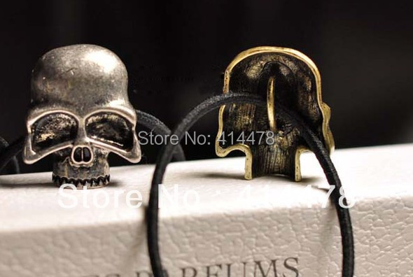Free Shipping 2013 New Arrival Metal Skull Design Elastic Hair Bands Fashion Popular Womens Hair Bands