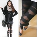 Большой размер женщин кросс-бэнд леггинсы сексуальные тонкий лента черные брюки женские леггинсы леди мода полоса кружева леггинсы