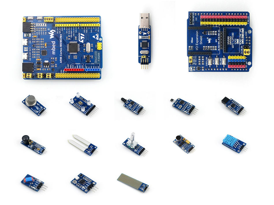 module STM32 ARM Cortex M4 STM32F302R8T6 Development Board + ST LINK Module + IO Expansion Shield + Sensors = XNUCLEO-F302R8 Pac