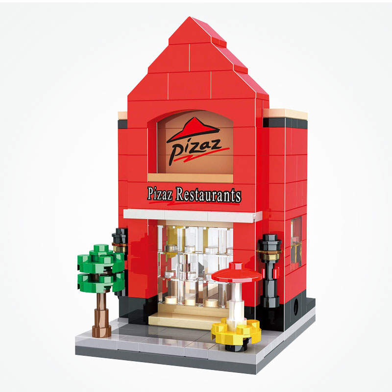 Blocks Model Building Lovely Legoe City Street View Series Hsh6407 Mini Fast Mart Shop Model Building Blocks Bricks Toys For Children Compatible With Legoing Special Buy