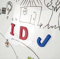 60 60cm Flexible Soft Kids Magnetic Whiteboard Sticker Sheets Portable Erasable White Board For Children Office