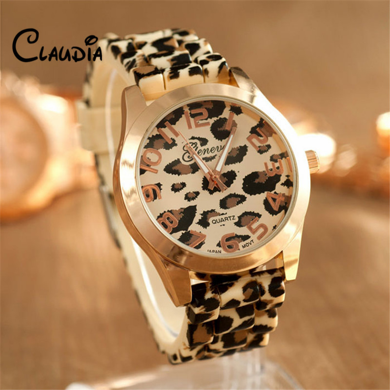 Hot sale Watches Women Fashion Unisex Geneva Leopard Silicone Jelly Gel Quartz Analog Wrist Watch Dropship Reloj Mujer 2017 2016 fashion lady wrist watch casual silicone watches with quartz unisex wristwatches for men women gift silicona children mujer
