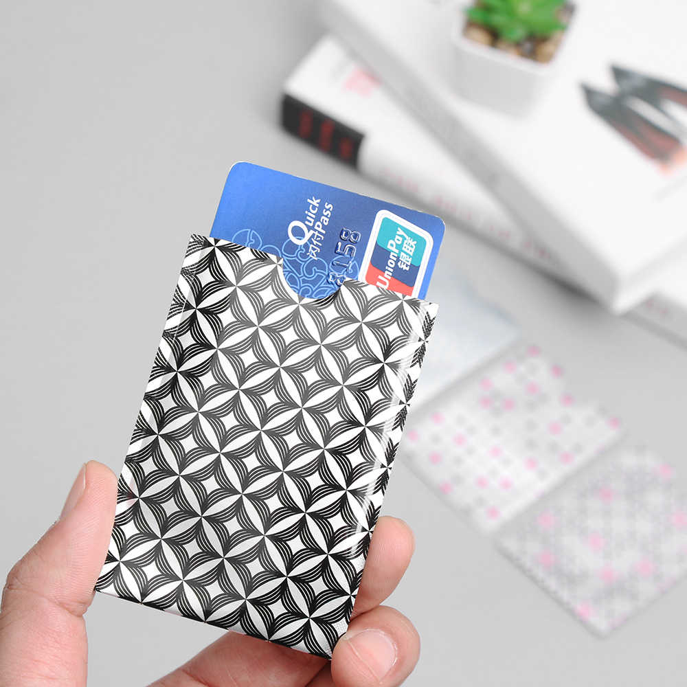 10 Pcs/Pack New Rfid Card Protection Bank Card Case Anti-theft Rfid Blocking Cardholder Carte Metal Rfid Covers for Credit Cards