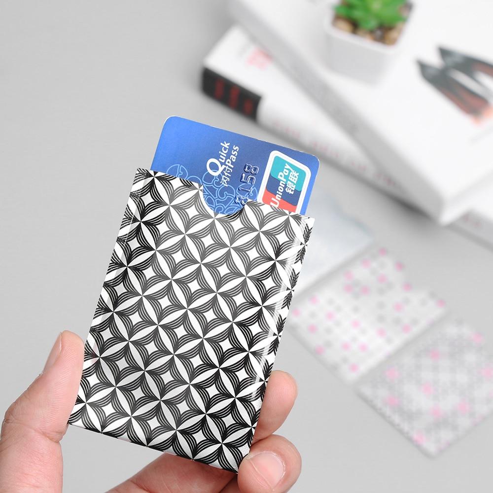 10 Teile/paket Neue Rfid Karte Schutz Bank Karte Fall Anti-theft Rfid Blocking Karteninhaber Carte Metall Rfid Abdeckungen Für Kreditkarten