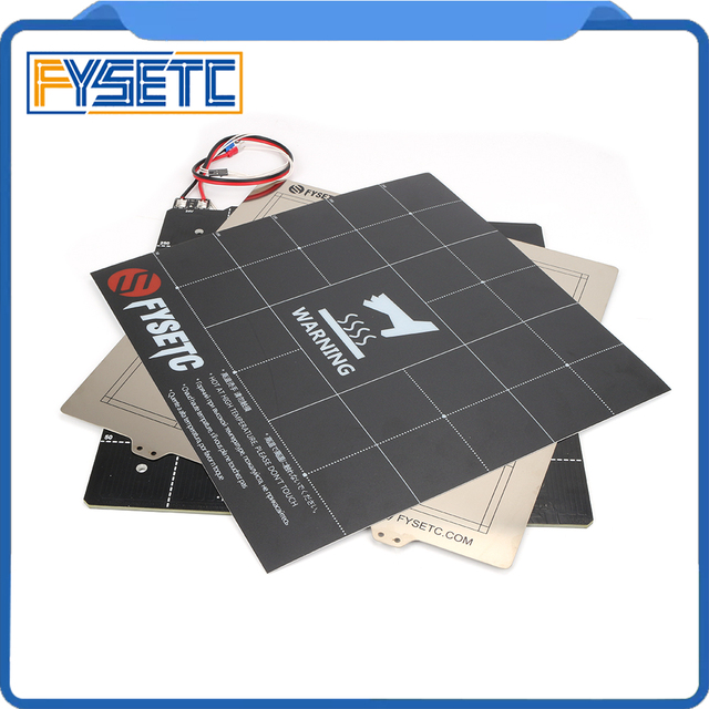 3D Printer Magnetic Heated Bed 24V Wiring Thermistor Kit With Steel Sheet 300*300mm For Anet E12 TEVO 3D Printer Parts
