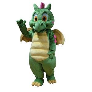 Image 1 - Костюм талисмана зеленого динозавра, карнавальный костюм Зеленого дракона для взрослых, вечерние костюмы на Хэллоуин