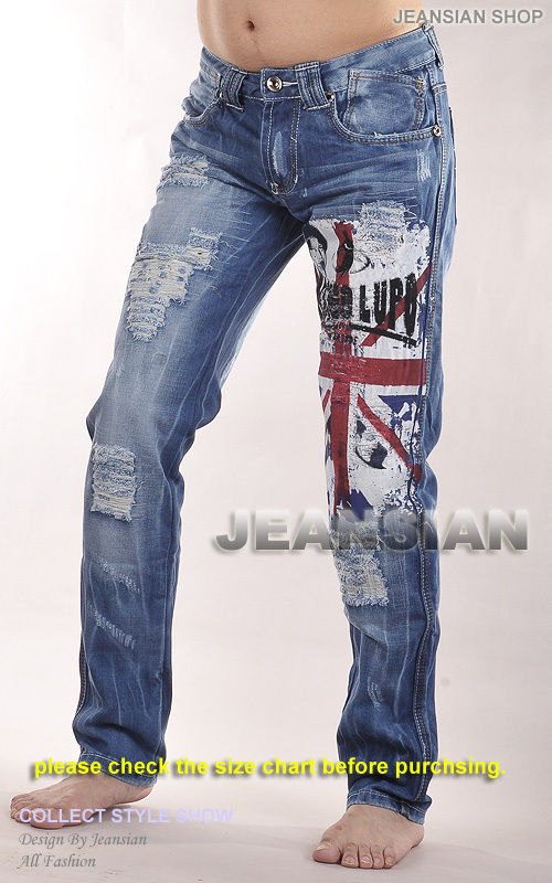ФОТО 2016 Mens Designer Jeans Pants Trousers Denim Blue Fashion Trend Washed W30 32 34 36 38  L32 J017