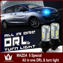 Señor de la noche Para Mazda 5 DRL LED intermitentes 20smd LED diurna/luces de Giro Delanteras todo en uno