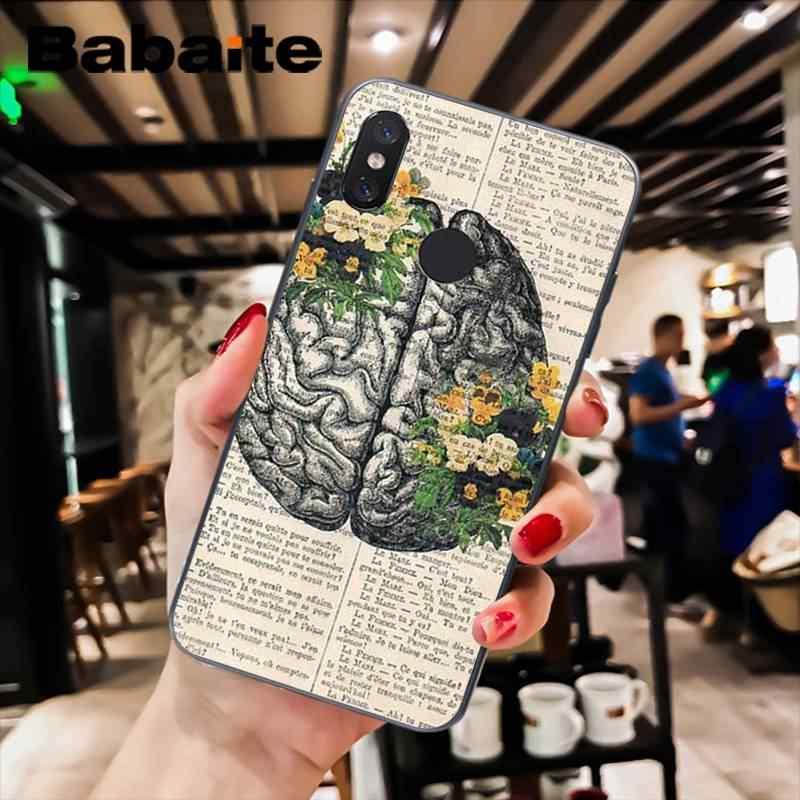 Babaite szkielet serca klatki piersiowej X Ray niestandardowy futerał na telefon dla Xiao mi mi 6 mi x2 mi x2S Note3 8 8SE czerwony mi 5 5 Plus Note4 4X Note5