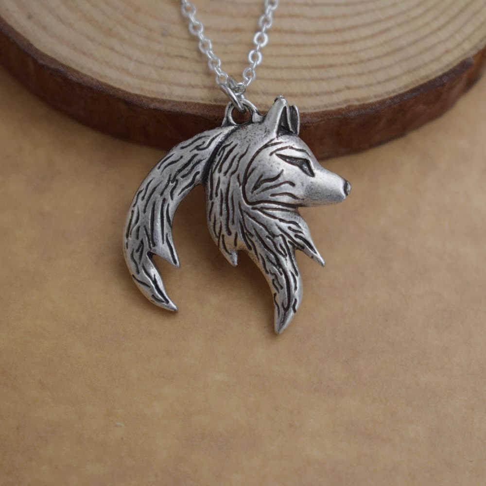 SanLan 12 cái Wolf Yin Yang Vòng Cổ Của Mình và Cô Ấy Lồng Vào Nhau Couple wolf necklace quà tặng