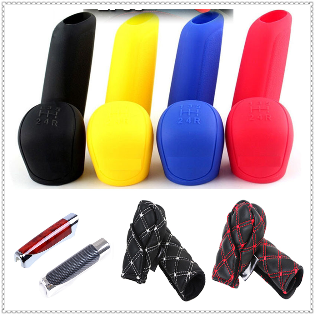 Car Suv Rubber Gear Shift Knob Handbrake Cover Stall Case For Peugeot Jeep Harley-Davidson Buick Bentley Scania 6008 301 408