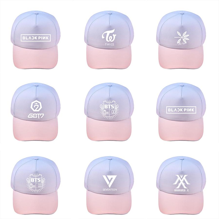 Men's Baseball Caps Baseball Cap Bts Kpop Twice Got7 Exo Monsta X Seventeen Wanna One Men Women Spring Summer Korean Version Letter Printing 2018new 100% High Quality Materials