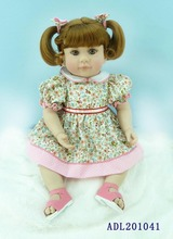 20 inch 50cm Silicone baby reborn dolls Children's toys flower skirt girl