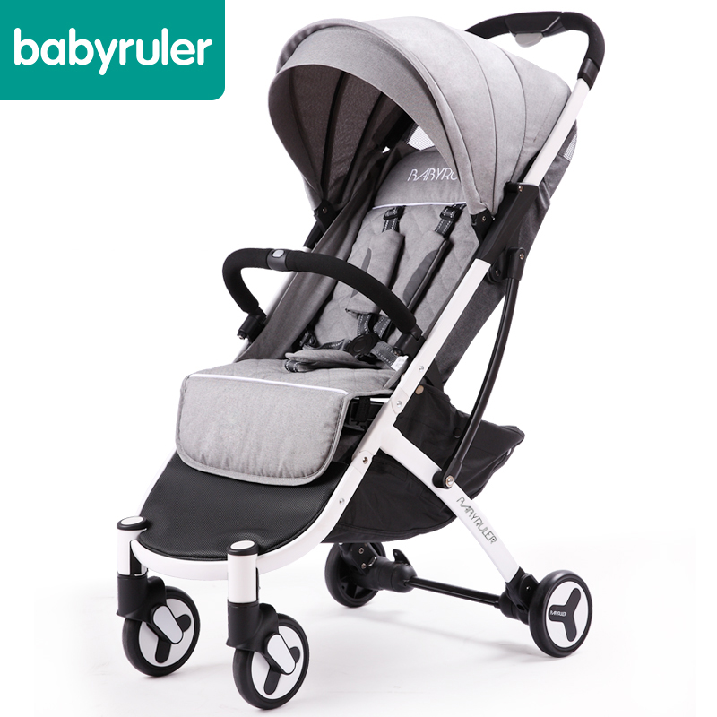 2018 Poussette Baby Stroller 5.8kg High Seat Baby Stroller Five Colors Free Gifts Quality One Hand Folding Light Carraige 2018 poussette baby free ship eu big brand twins baby stroller folding light double pram two seat 0 4 years use free gifts
