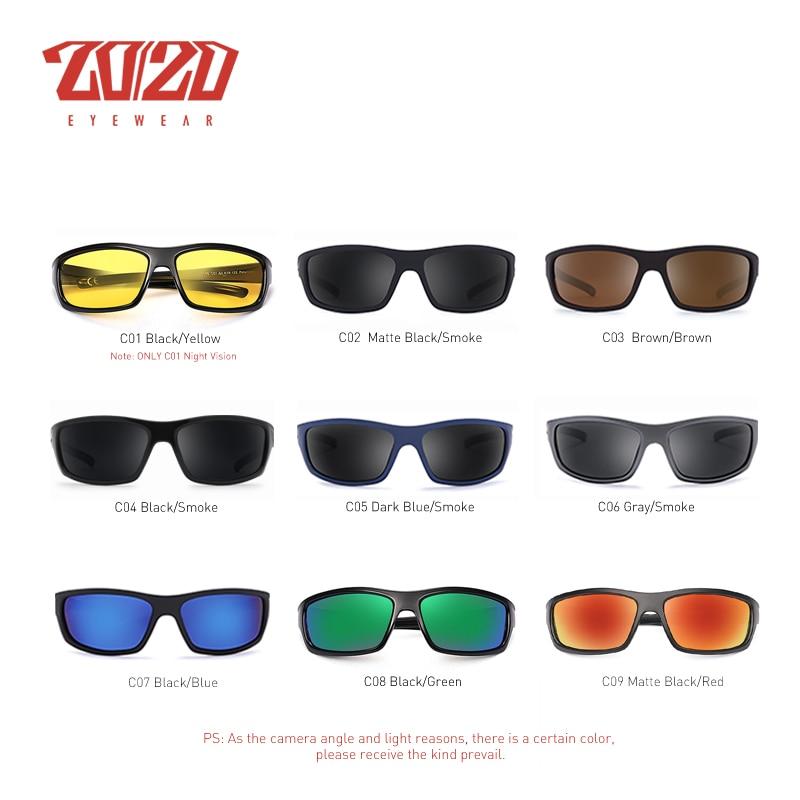 20/20 Optical Brand Design New Polarized Sunglasses Men Fashion Male Eyewear Sun Glasses Travel Fishing Oculos PL66 With Box 2